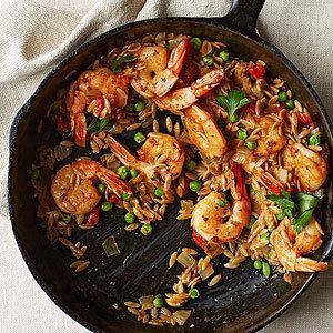Изображение рецепта Паэлья с креветками
